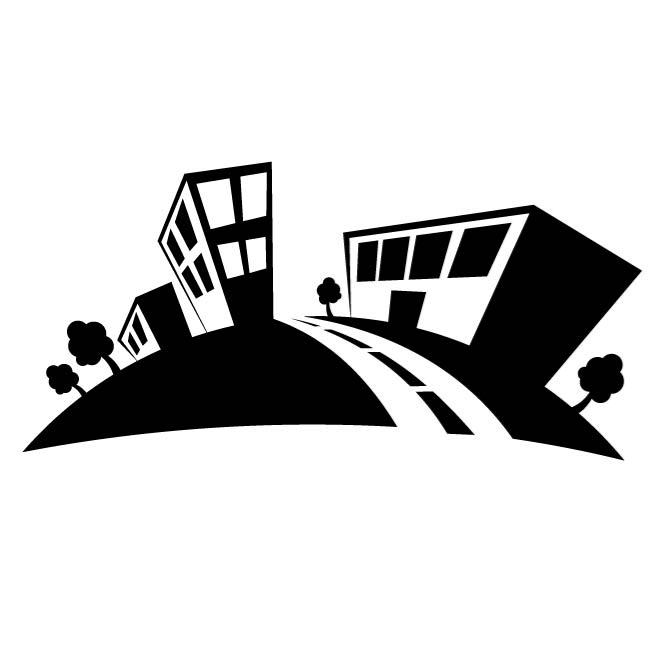 660x660 Small Town Vector