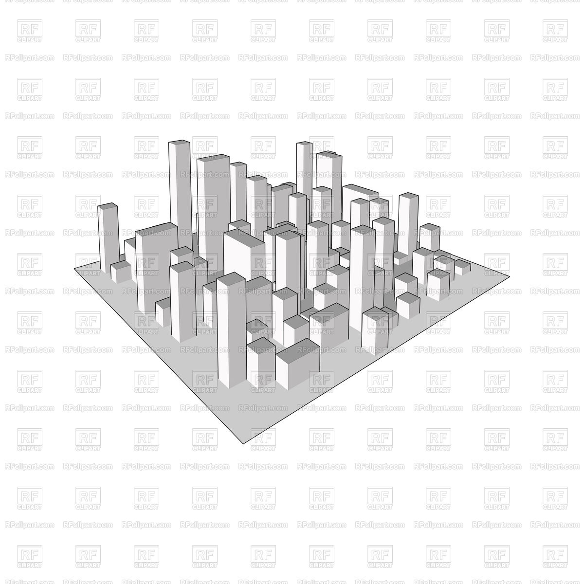 1200x1200 Skyline City. Abstract Isometric Town. Vector Image Vector