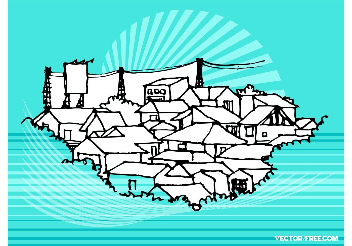1400x980 Town Vector Free