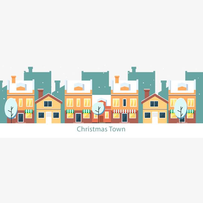 650x651 Vector Christmas Snow Town, Vector Christmas Snow, Towns Christmas
