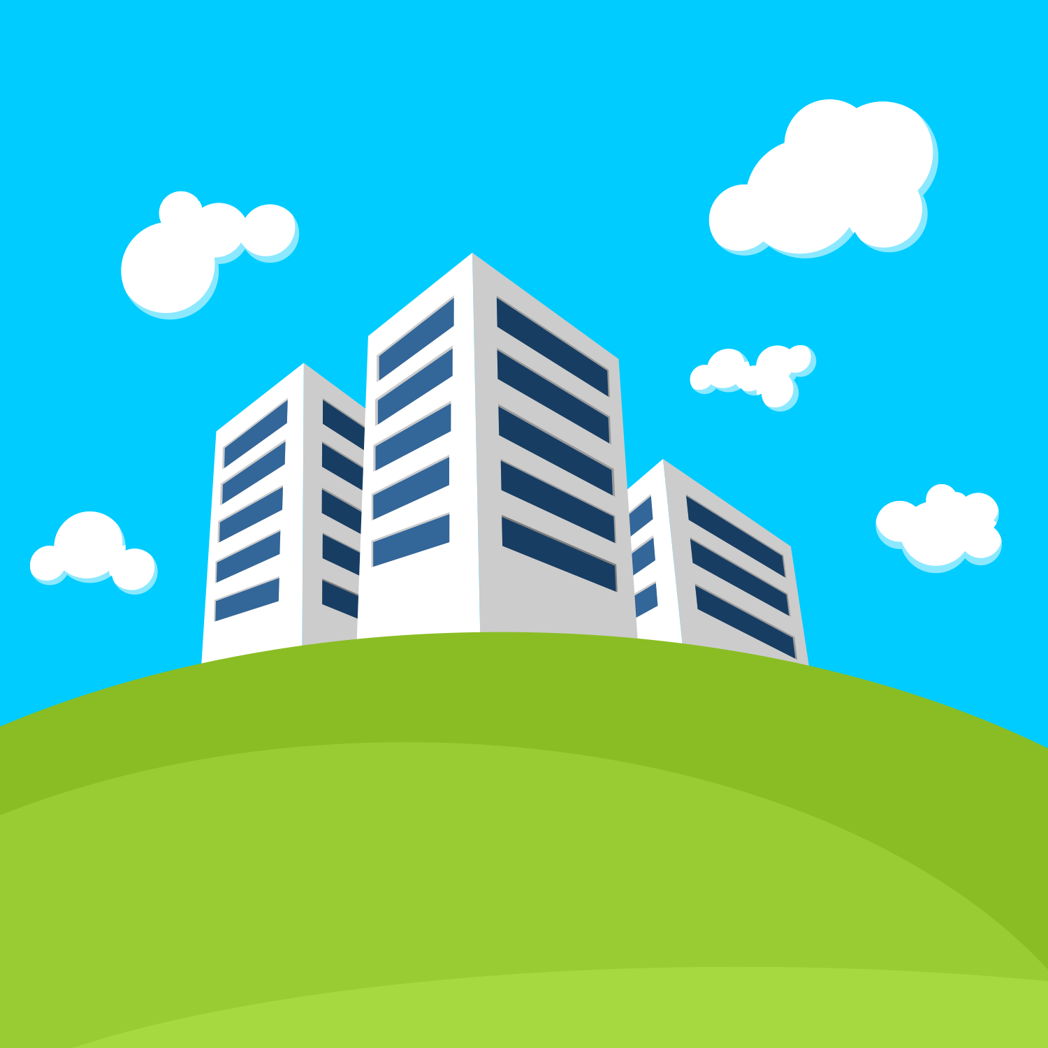 1500x1500 Vector For Free Use Small Modern Town
