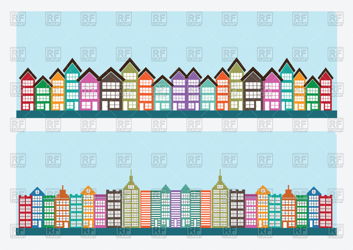 1200x848 Cartoon Town Vector Image Vector Artwork Of Architecture