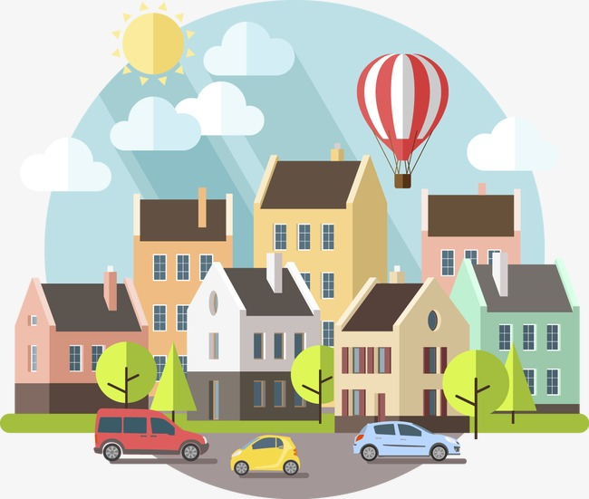650x551 Decorative Small Towns, Decoration, Vector, Town Png And Vector