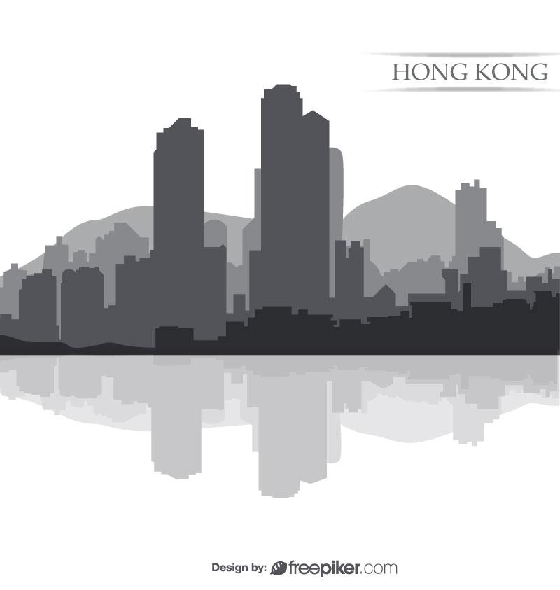 800x843 Freepiker Hong Kong Town Vector