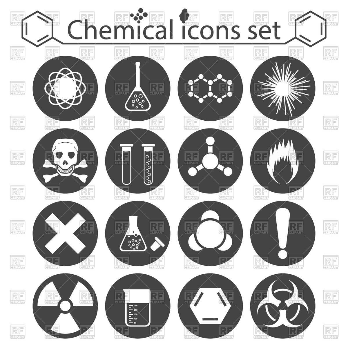 1200x1200 Chemical, Biological Weapons And Toxic Substances Icons Vector