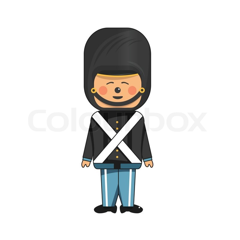 800x800 Toy Soldier In Black Uniform Stock Vector Colourbox