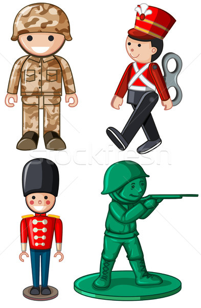 393x600 Different Designs Of Toy Soldiers Vector Illustration Daniel