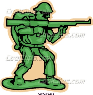 300x307 Toy Soldier Vector Clip Art
