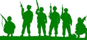 300x138 Green Toy Soldiers Clip Art