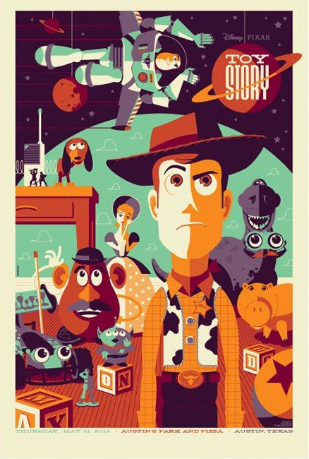 438x650 Toy Story Vector Poster. Cinema I Tom Whalen