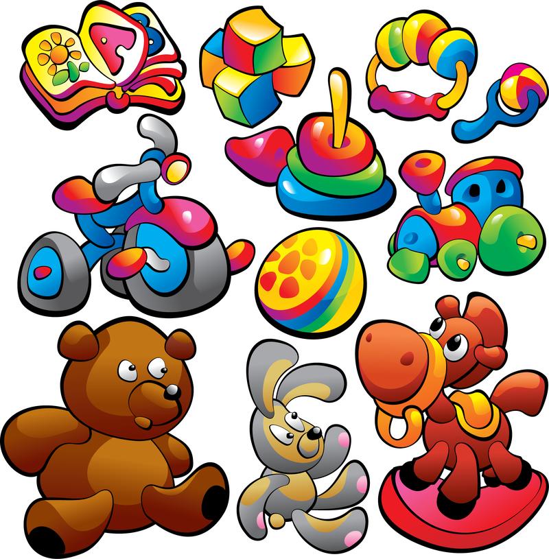 800x815 Theme Of Children Toys Vector
