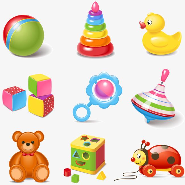 650x651 Cartoon Children Toy Vector Material, Children Clipart, Vector