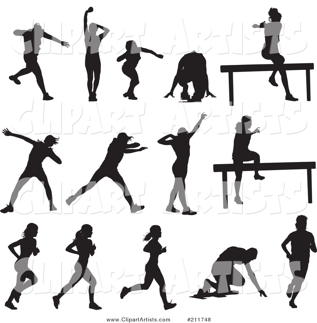 1024x1044 Hurdles Track And Field Clipart