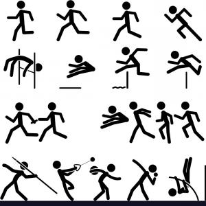 300x300 Sport Pictogram Icon Set Track And Field Vector Arenawp
