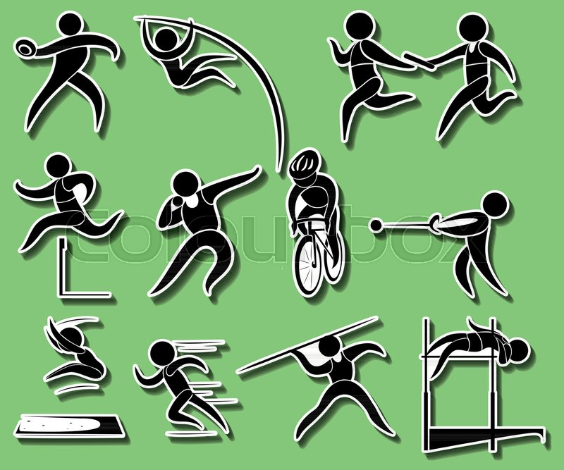 800x667 Sport Icons For Different Types Of Track And Field Events