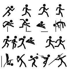 236x248 Sport Pictogram Icon Set 02 Track And Field Vector 1000098