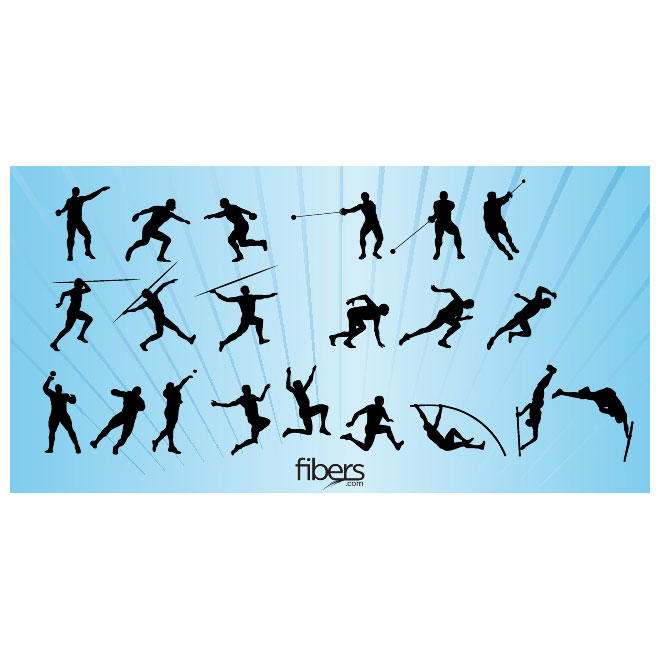 660x660 Track And Field Silhouettes Vector