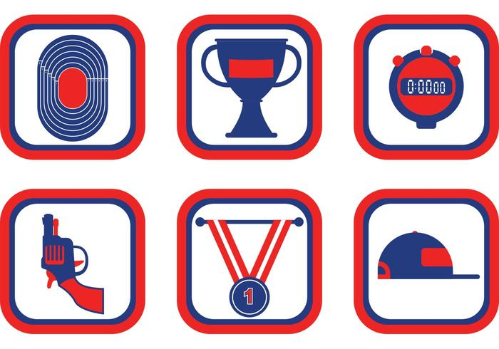 700x490 Track Amp Field Icon Vector Pack