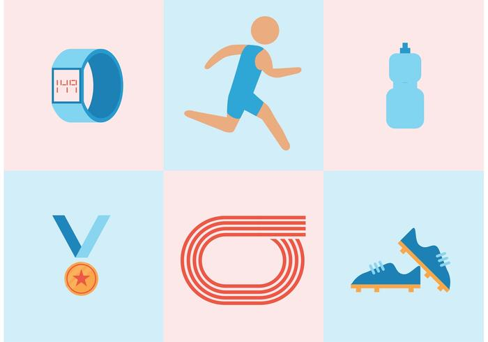 700x490 Track And Field Vector Set