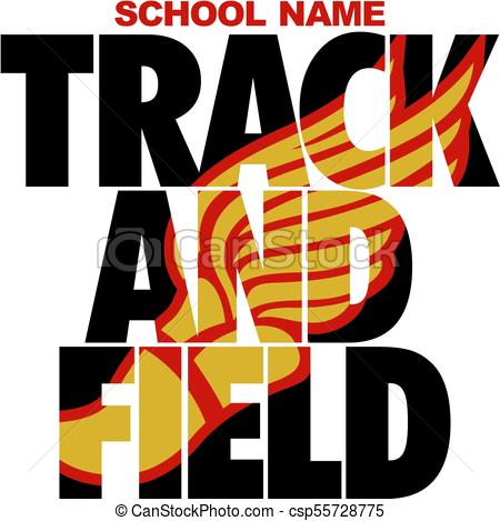450x469 Track And Field Team Design With Winged Foot For School, College