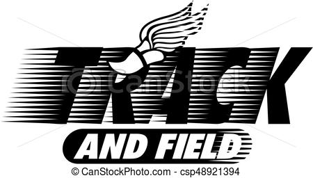 450x256 Track And Field Team Design With Winged Foot For School,... Eps