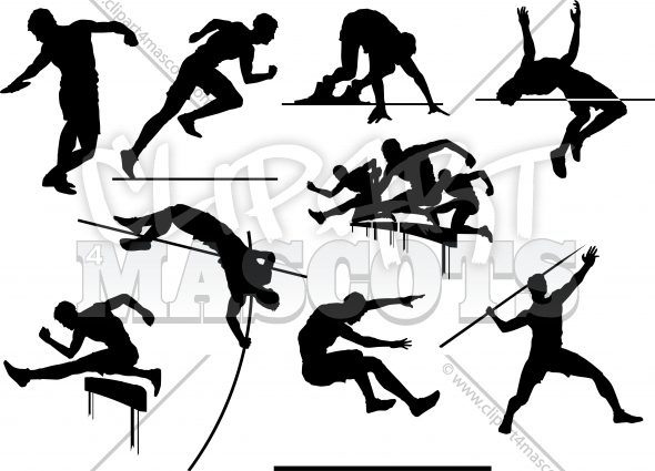 590x425 Vector Track And Field Graphic Vector Logo