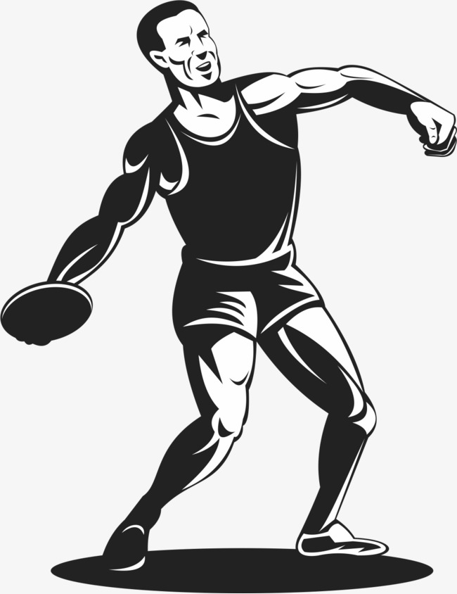 650x844 Discus Track And Field Athletes, Black And White, Discus, Athlete