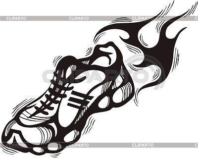 400x319 Running Shoes Flame Stock Vector Graphics Cliparto