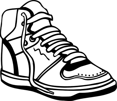 400x344 Sneakers Clipart Track Shoe