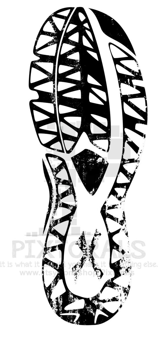 570x1165 Track Shoe Tread Clipart Sketchy Eps File Vector And Jpeg Etsy