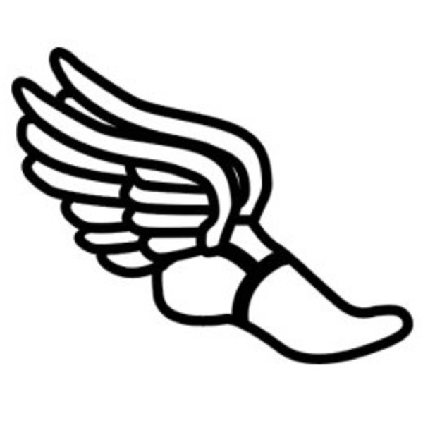 600x600 Track Shoe Clip Art Track Shoe With Wings Clip Art Track