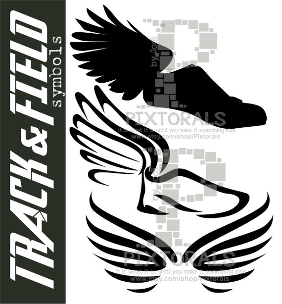 570x614 3 Winged Shoe Vectors Eps Eps File Vector Png Winged Etsy