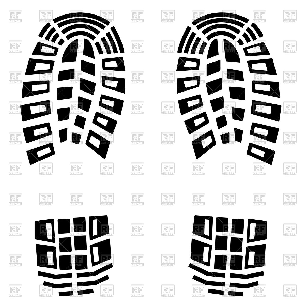 1200x1200 Black Shoe Tracks Vector Image Vector Artwork Of Silhouettes