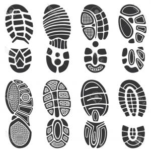 300x300 Footprint Silhouette Vector Shoe Soles Print Foot Print Tread