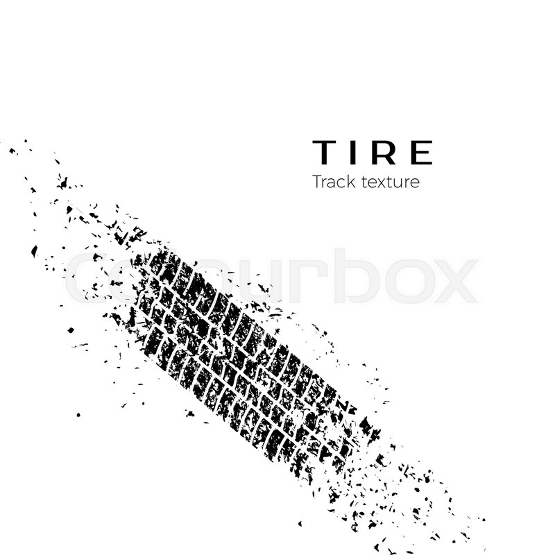 800x800 Dirt Track From The Car Wheel Protector. Tire Track Silhouette