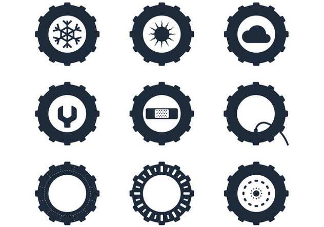 632x443 Tractor Tire Icons Free Vector Download 380905 Cannypic