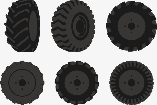 650x435 Vector Illustration Tractor Tire, Tractor Vector, Tire Vector