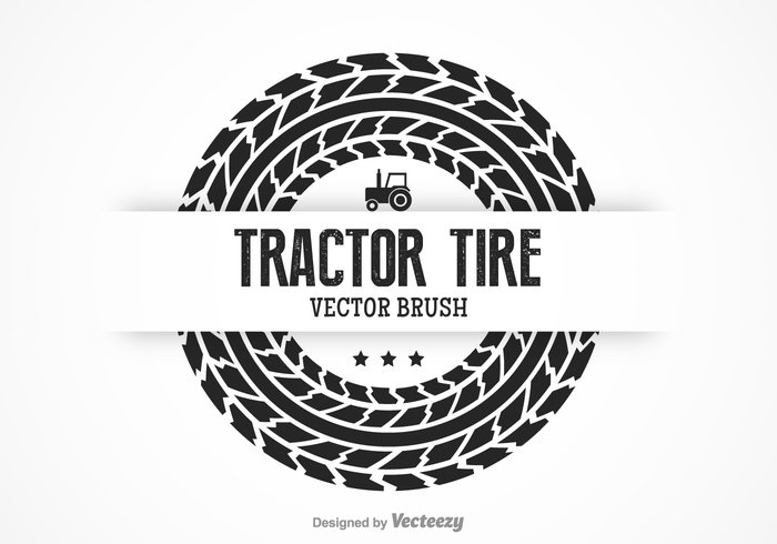 700x490 Free Tractor Tire Vector Brush