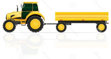 367x195 Tractor Trailer Vector Free Vector Art, Images, Graphics Amp Clipart