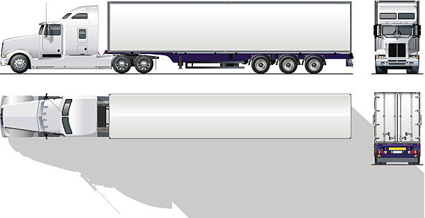 612x315 Tractor Trailer Clipart Group With Items