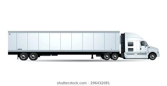 543x280 Tractor Trailer Refrigerator Refrigerator Truck Stock Images