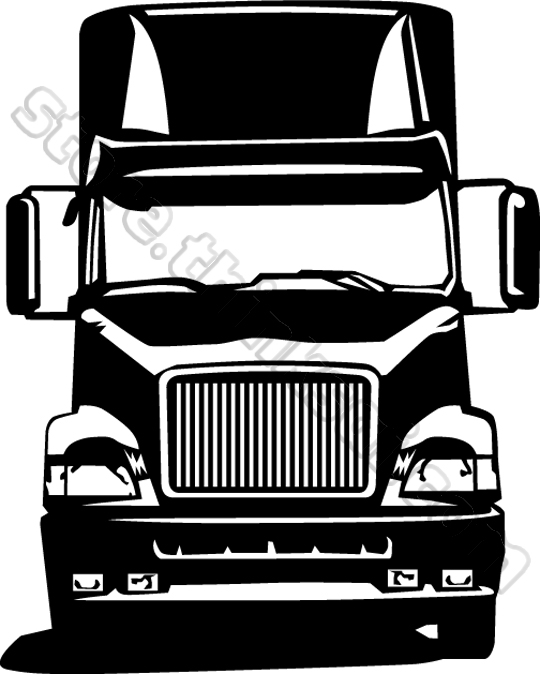 540x674 Tractor Trailer Clipart