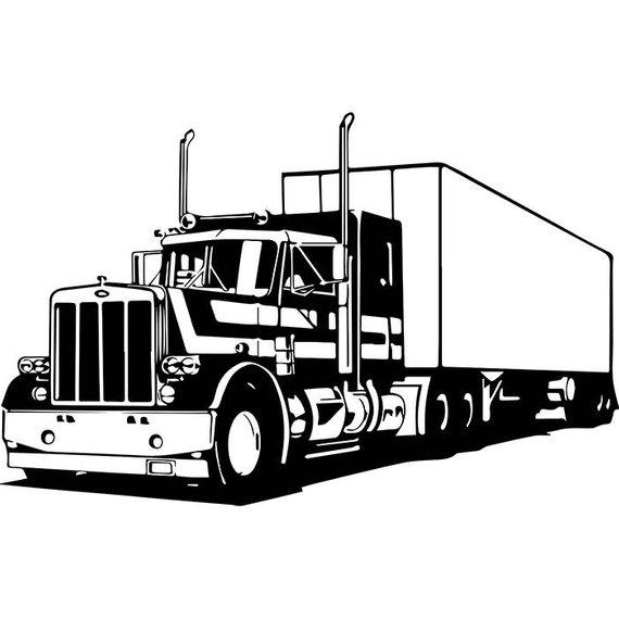570x570 Truck Driver 18 Trucker Big Rigg 18 Wheeler Semi Tractor Etsy