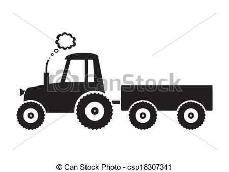 450x338 Collection Of Tractor With Trailer Drawing High Quality
