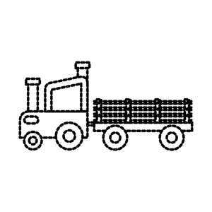 300x300 Agricultural Trailer Royalty Free Vectors