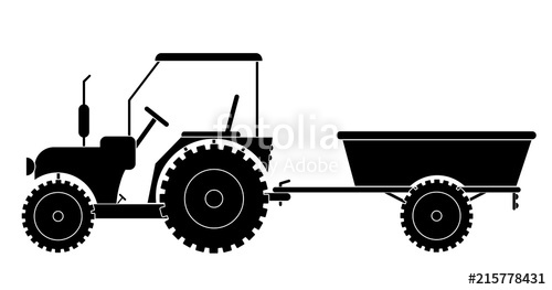 500x263 Tractor With Trailer Vector Eps 10 Stock Image And Royalty Free