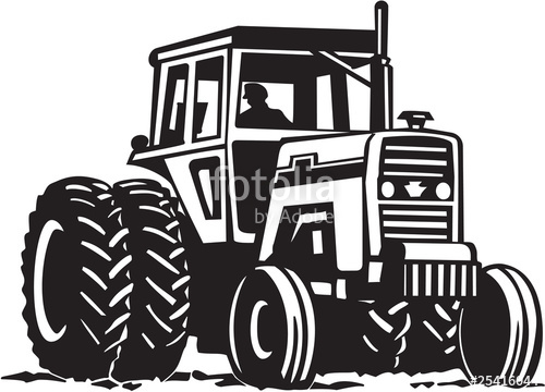 500x360 Tractor Vinyl Ready Vector Illustration Stock Image And Royalty