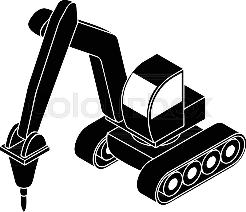 800x690 Drill Tractor Icon. Simple Illustration Of Drill Tractor Vector