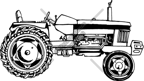 500x280 Tractor Clipart And Vectorart Occupations