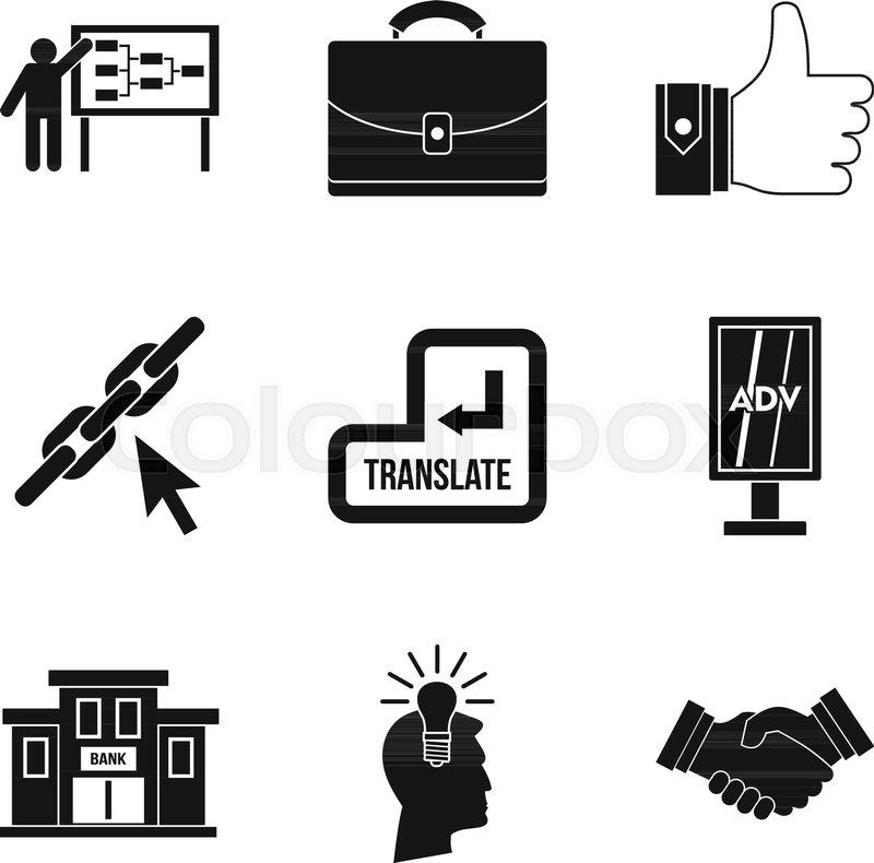 800x790 International Trade Icons Set. Simple Set Of 9 International Trade